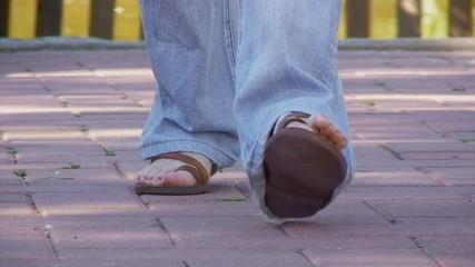 Feet lifestyle sandals walking