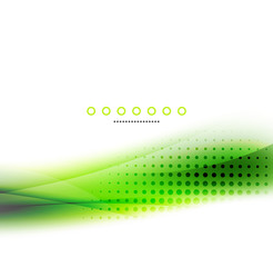 Abstract background, green wave business template