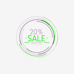 Minimal line design shopping stamps, sale