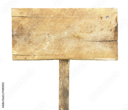 canvas print picture Old wooden tag