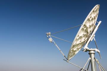 A satellite dish parabolic antenna