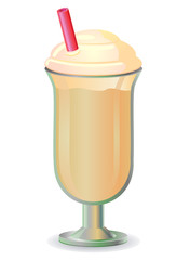 Beige colored shake vector
