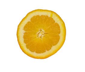 orange half up isolated