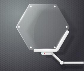 futuristic screen honeycombs