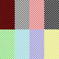 Set of eight geometrical samples