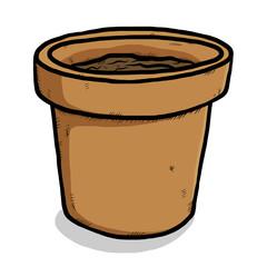 empty plant earthen pot