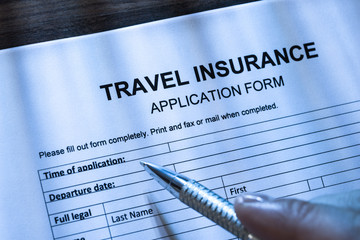 Person Filling Travel Insurance Application Form