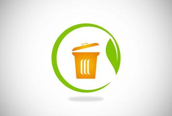eco trash garbage vector