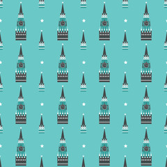 russian kremlin seamless pattern