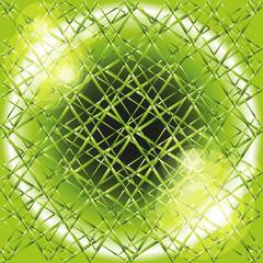 Green abstract geometrical background burst light
