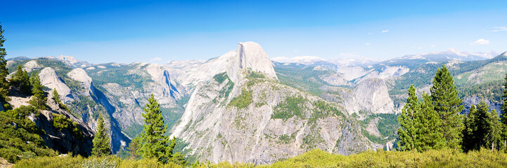 Yosemite National Park panoramic view
