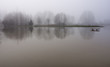 Snoqualmie river floods the park in Duvall, Washington - 76187435