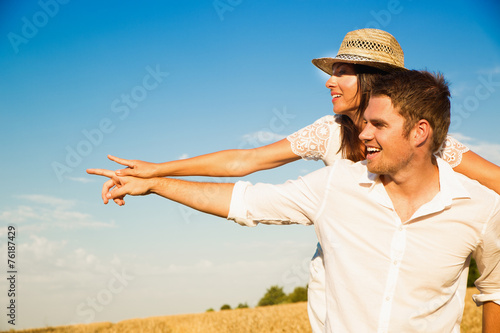 canvas print picture summer couple