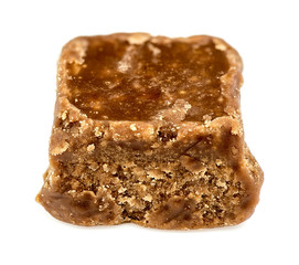 Macro closeup of tasty chocolate fudge