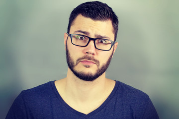 Portrait of a businessman surprised