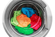 colorful clothes in the washing machine - 76188295