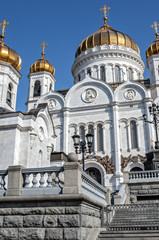 Russia, Moscow. The Cathedral of Christ the Savior in Moscow