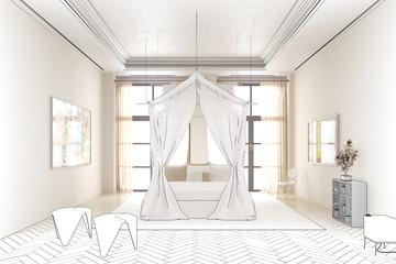 Schlafzimmer im Licht (Planung)