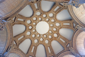 the ceiling of Palace of Fine Arts, san francisco