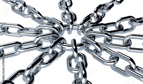 metalowe łańcuchy