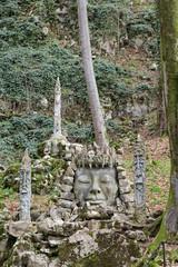 Stone idol at the entrance of the Vorontsovskaya cave, Sochi