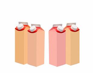 milk in a package
