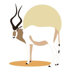 addax_antelope_illustration