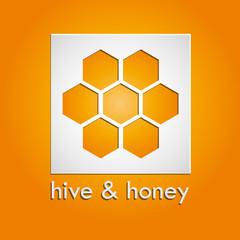 .Vector sign hive & honey