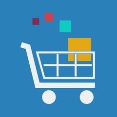 Vector sign  discount. Shopping cart