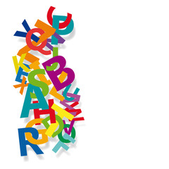 Abstract Colour Alphabet on white background