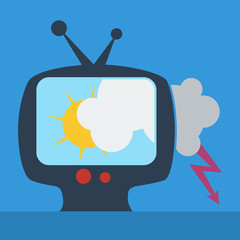 Vector sign weather in tv