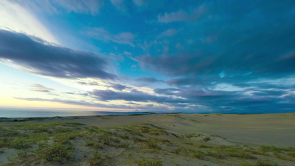 Philippines sand dunes sunset time lapse