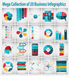 Zdjęcia na płótnie, fototapety, obrazy : Collection of Infographic Templates for Business Vector Illustra