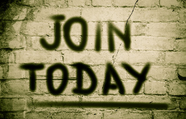 Join Today Concept