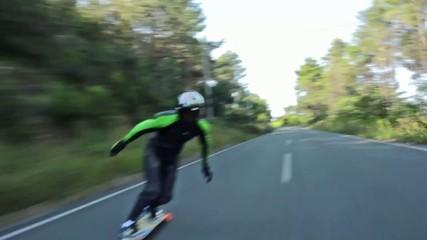 Tracking boy longboard, downhill