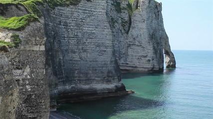 Famous cliffs of Etretat, Normandy, France