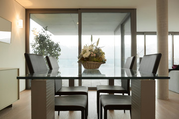 Interior home, modern dining table