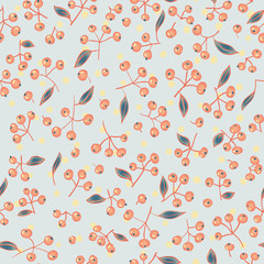 hand drawn berry seamless pattern.