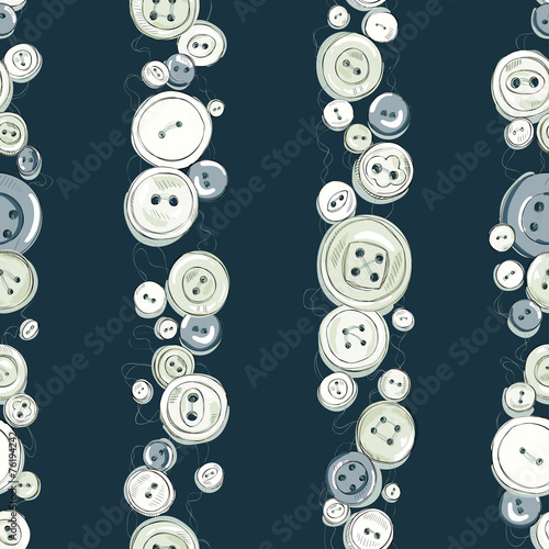 Strips of hand drew buttons - 76194242