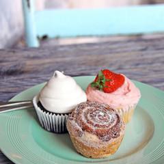 cupcakes auf der terrasse