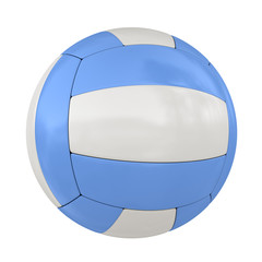 Single Isolated Blue Volleyball Ball