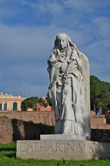 St. Catherine Statue in Rome