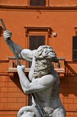 Neptune fountain in Piazza Navona,  Rome, Italy