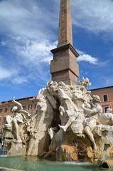 Fontana dei Quattro Fiumi in Piazza Navona, Rome