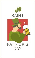 Template flyer St. Patricks Day