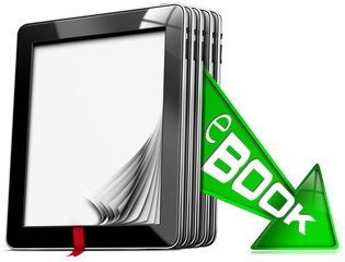 E-Book Symbol with Tablet Computers