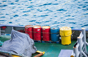 Red Blue and Yellow Barrels
