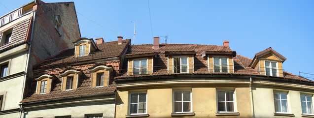 Red roof and dormers