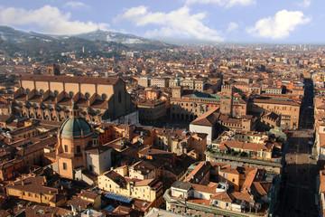 Italy. Old Bologna, Piazza Maggiore.