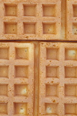 Close - up Delicious sweet waffle background